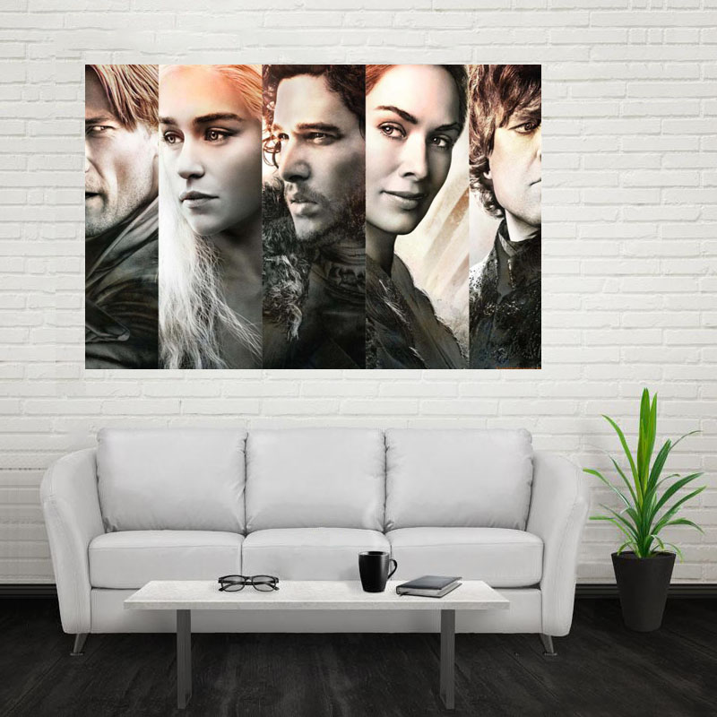 Nice Game Of Thrones Poster Custom Canvas Poster Art Home Decoration Cloth Fabric Wall Poster Print Silk Fabric Print