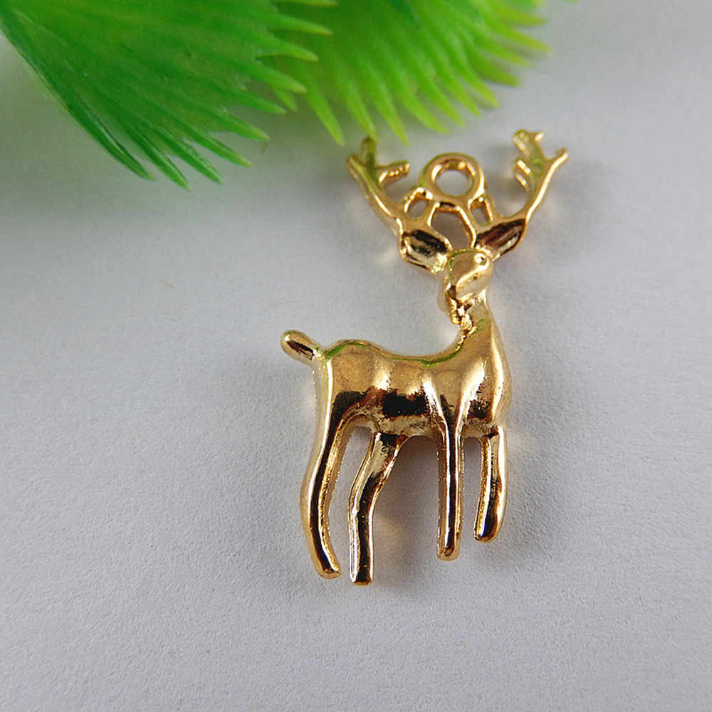 (20Pieces)Man Creative Elk jewelry pendant Deer Necklace Pendant Animal Bracelet Charms Handmade Crafts Jewelry Findings 51834