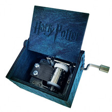 Kids toy Harry Potter Hand Engraved Music Box Wooden toys harry potter merchandise