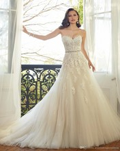 Luxury Sweetheart Lace A Line Wedding Dress Off the Shoulder Cristal Plus Size Bridal Gowns vestido