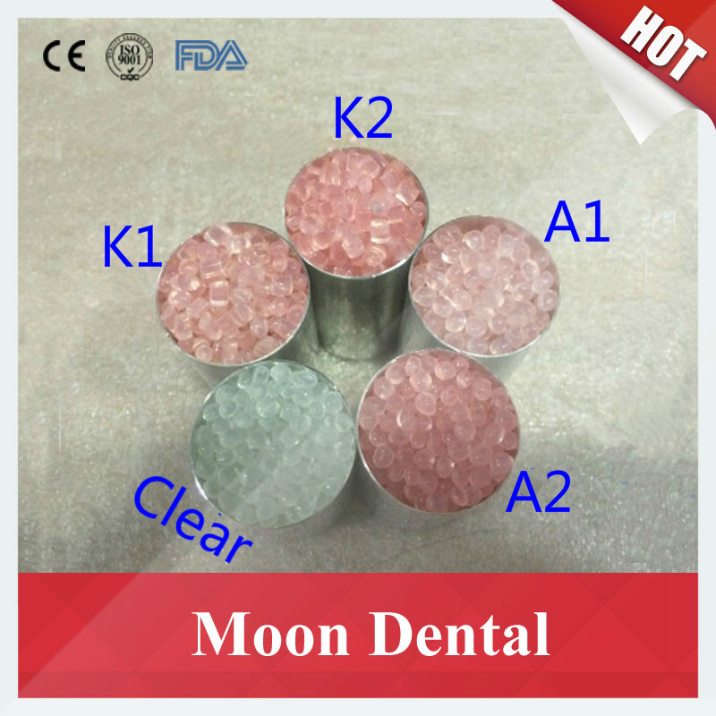 Sales 500g/lot Dental Material K1/K2K3//A1/A2/A3 PINK Color Valplast Flexible Acrylic Nylon Resin Material for Partial Dentures partial to pink