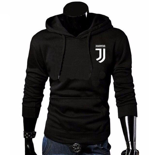 2018 marca Juventus imprimir ropa deportiva hombres Hoodies Hip Hop Fleece Tracksuit  sudaderas nueva moda ropa 792aa7d6510
