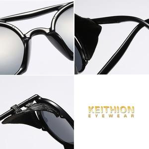 Image 5 - KEITHION מותג עיצוב Steampunk עגול משקפי שמש אופנה נשים גברים משקפיים שמש רטרו Goggle UV400 גווני Eyewear 9757