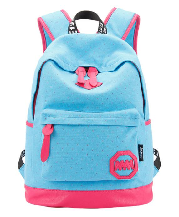 New Fashion Canvas women backpack children school bags European Candy Colors Printing Backpack cute Elegant children