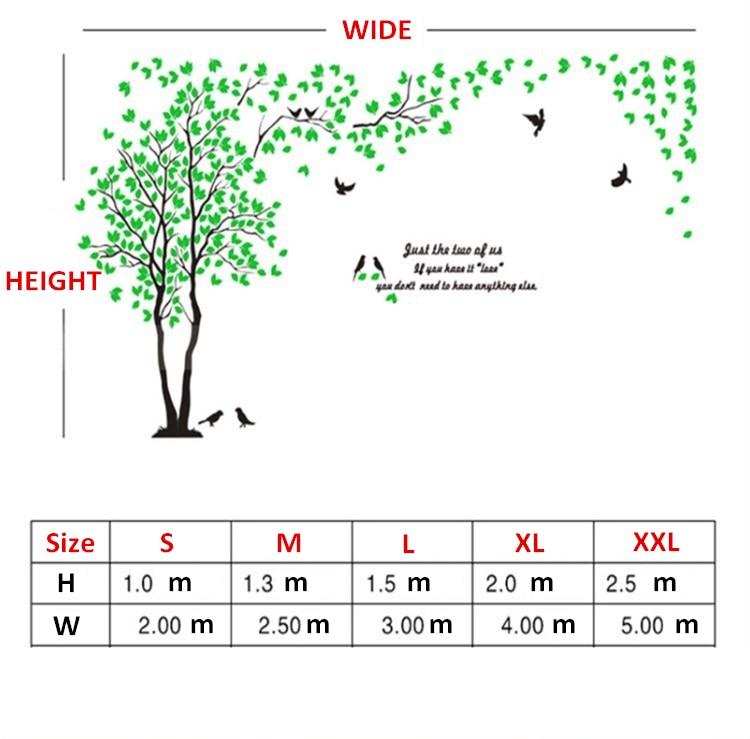 Didelio dydžio medis akrilo dekoratyvinis 3D sienos lipdukas DIY - Namų dekoras - Nuotrauka 2
