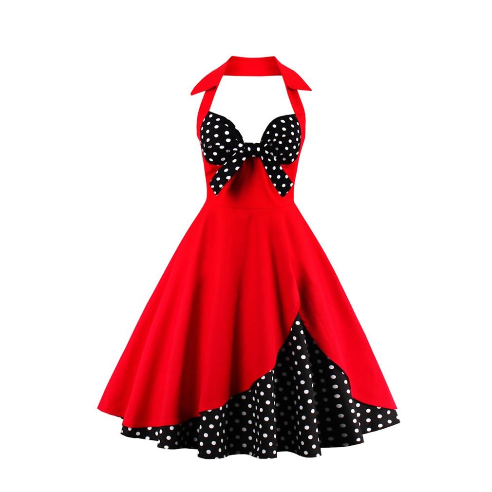 Sexy Vintage զգեստ S-4XL կանանց 50-ականներ - Կանացի հագուստ - Լուսանկար 4