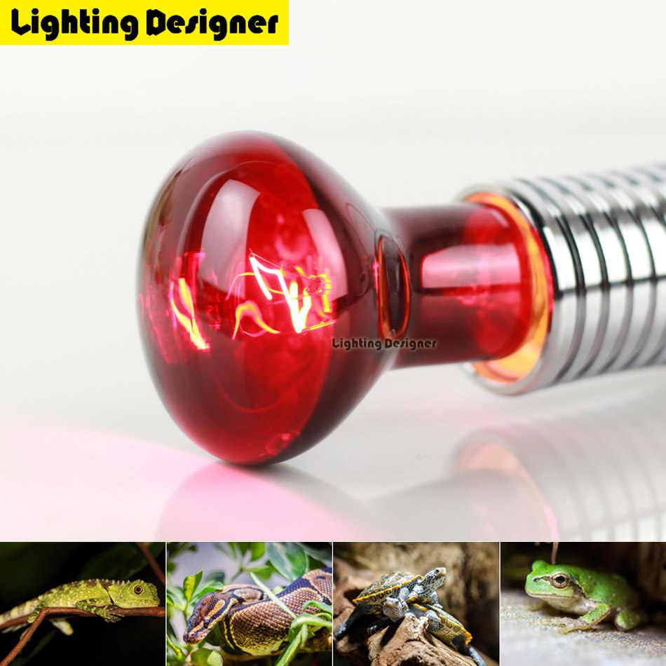 R63 40 Вт 60 Вт красная лампа для обогрева инфракрасная лампа точечная пробиваемая лампа рептилий прожектор лампа помогает поддерживать тепло животных 220 В