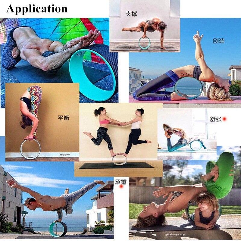 4 χρώματα TPE Γιόγκα Κύκλος Τροχός Pilates - Fitness και bodybuilding - Φωτογραφία 6