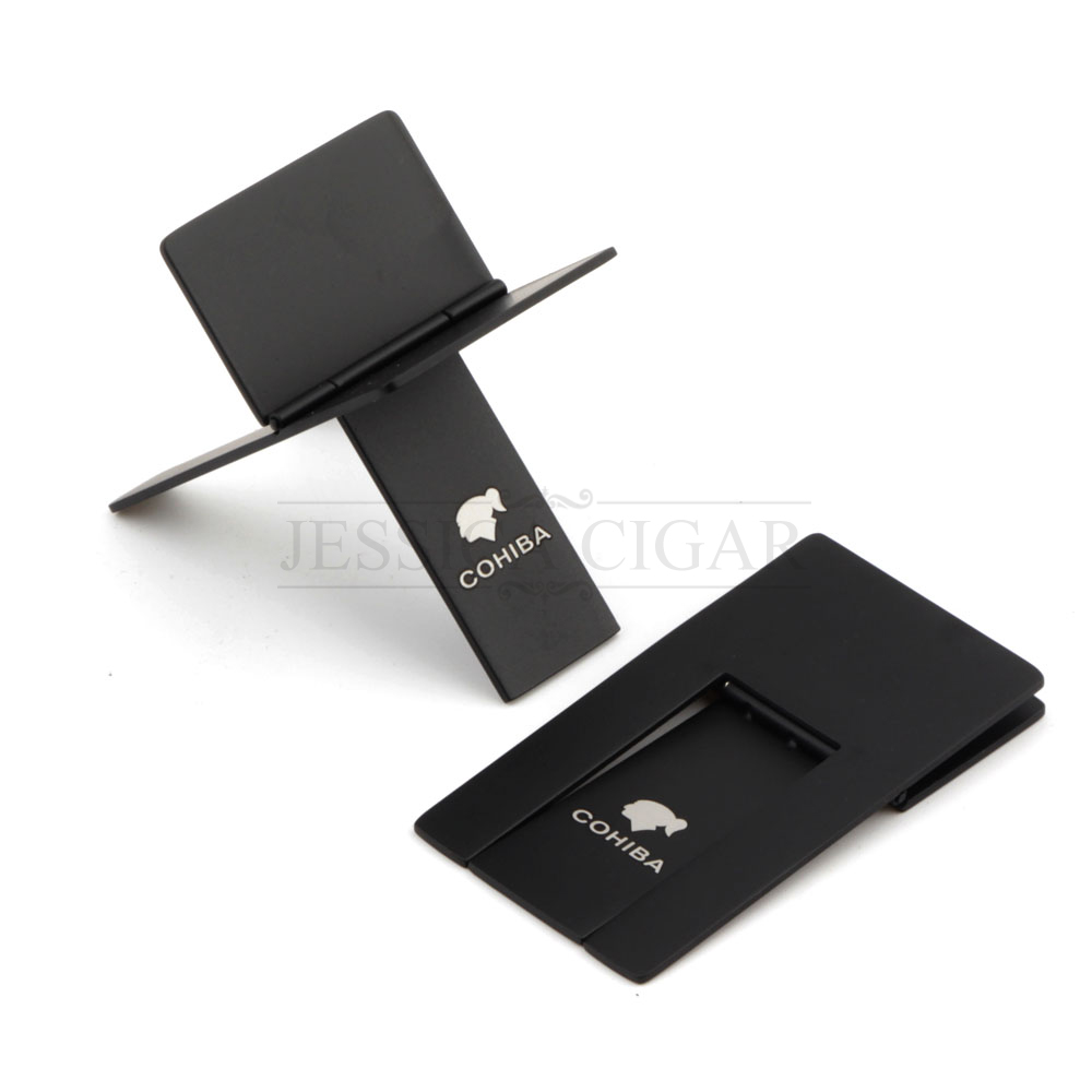 Genuine COHIBA GALINER Stainless Steel Cigar Holder Portable Cigarette Pipe Stand Mini Tobacco Support