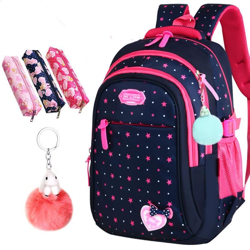 Hot Sale School Bags Children Backpacks Largr Capacity New Student Bag Simple Splash-proof Backpack Sweet Print Backpack