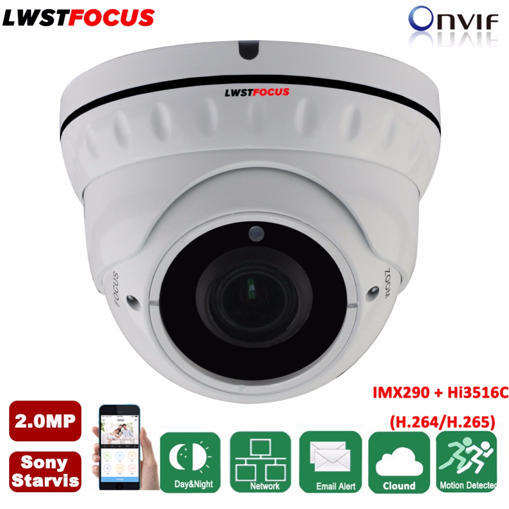 2.8-12mm Varifocal Sony Starvis IMX290+Hi3516C 2MP IP Camera 1080P H.265/H.264 Outdoor IR CCTV Dome Security Camera POE ONVIF 2 8 12mm varifocal sony starvis imx290 hi3516c 2mp ip camera 1080p h 265 h 264 outdoor ir cctv dome security camera poe onvif