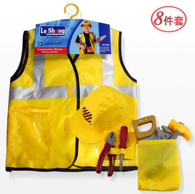 Halloween/Christmas Gift Baby/Kids/Childrenu0027s Construction Worker Role Play Costume Set 8Pcs  sc 1 st  AliExpress.com & Halloween/Christmas Gift Baby/Kids/Childrenu0027s Construction Worker ...