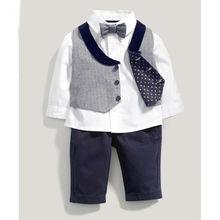 toddler boy wedding clothes formal suit gentleman boy clothes kids vest + white shirt +pant children clothing manufacture 3 pcs