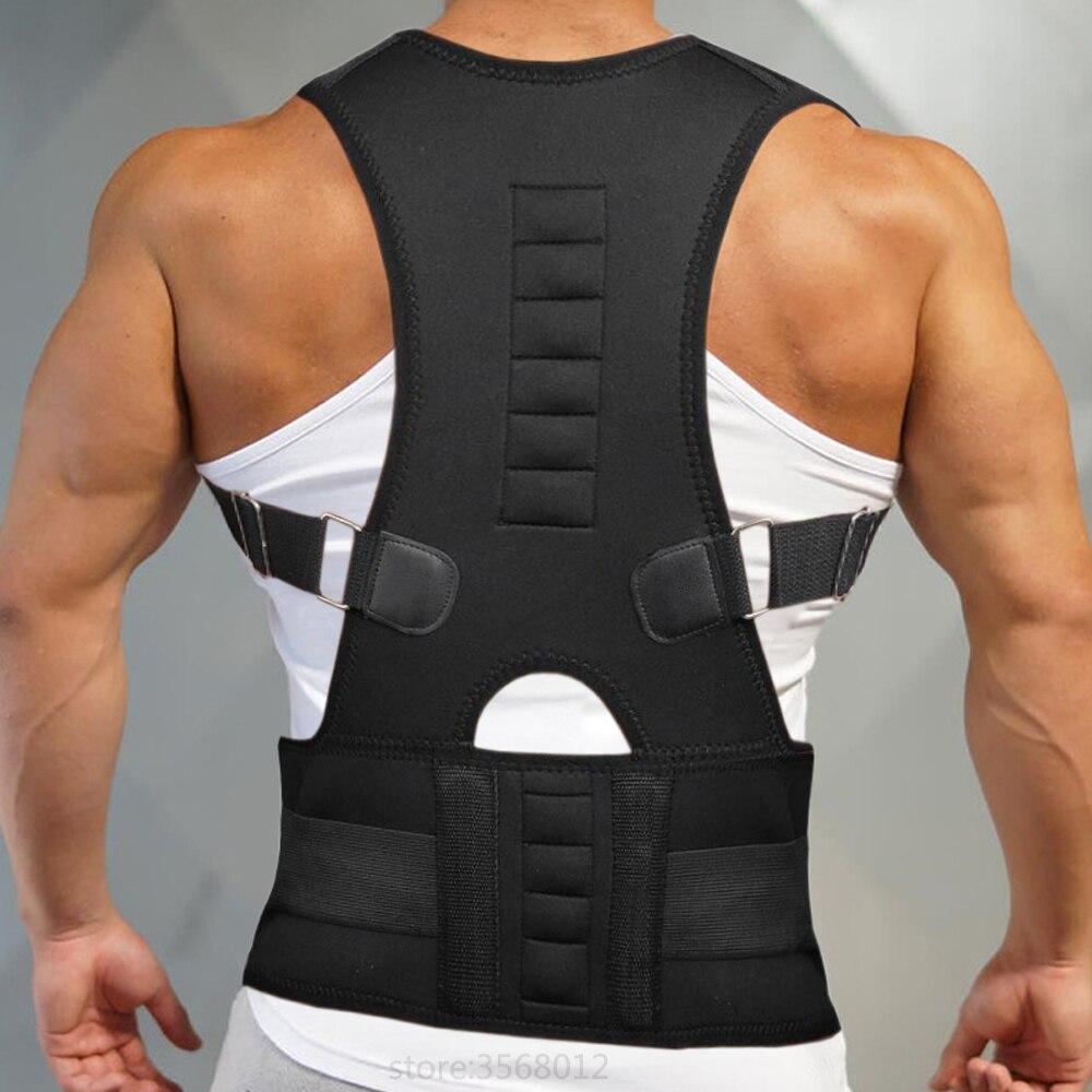 Neoprene Back Corset Brace Straightener Shoulder Belt Support Belt for Men Magnetic Posture Corrector Back Pain Corrective Vest