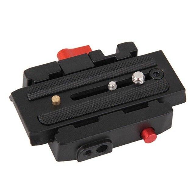 Бренд камеры штатив монопод p200 qr алюминиевого сплава зажим адаптер + быстрый диск выключения для manfrotto 501 500ah 701hdv 503hdv q5