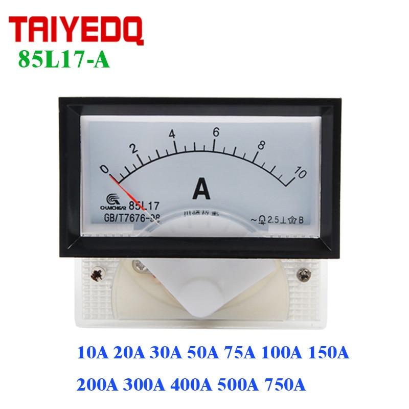 1PC DC 0-75A 75mV Analog Panel Current Meter Ammeter Gauge 6C2 80*80