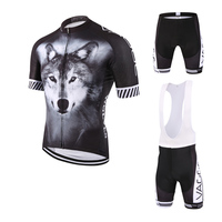 VAGGE WOLF Full Sublimation New Design Cycling Wear Summer Cycling Clothing Jersey Set Quick Dry Bike