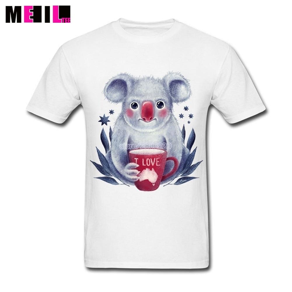 Design t shirt online australia - Big Size I Love Australia Popular Boy T Shirt Cute Sloth Short Sleeve Crewneck Cotton