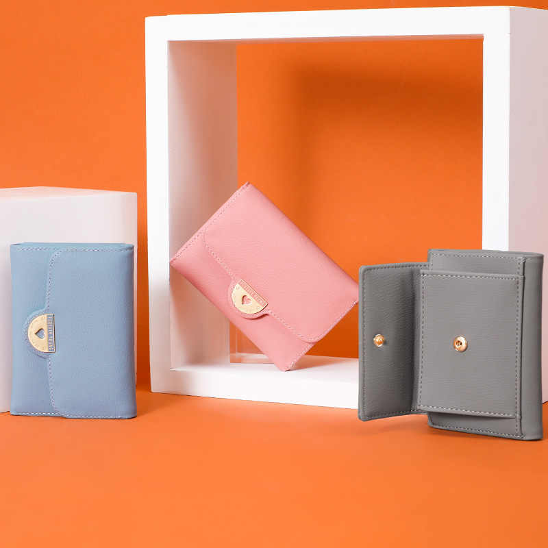 WEICHEN Trifold множество отделов, женские кошельки, портмоне, держатель для карт, Женский кошелек, короткий кошелек для девочек, Дамский маленький кошелек, Новинка