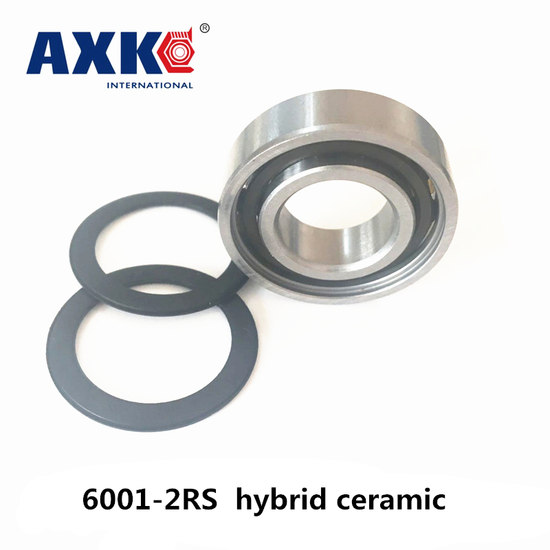 2018 New New Arrival Steel Rodamientos Free Shipping 6001-2rs 6001 Hybrid Ceramic Deep Groove Ball Bearing 12x28x8mm free shipping 6001 full si3n4 ceramic deep groove ball bearing 12x28x8mm p5 abec5