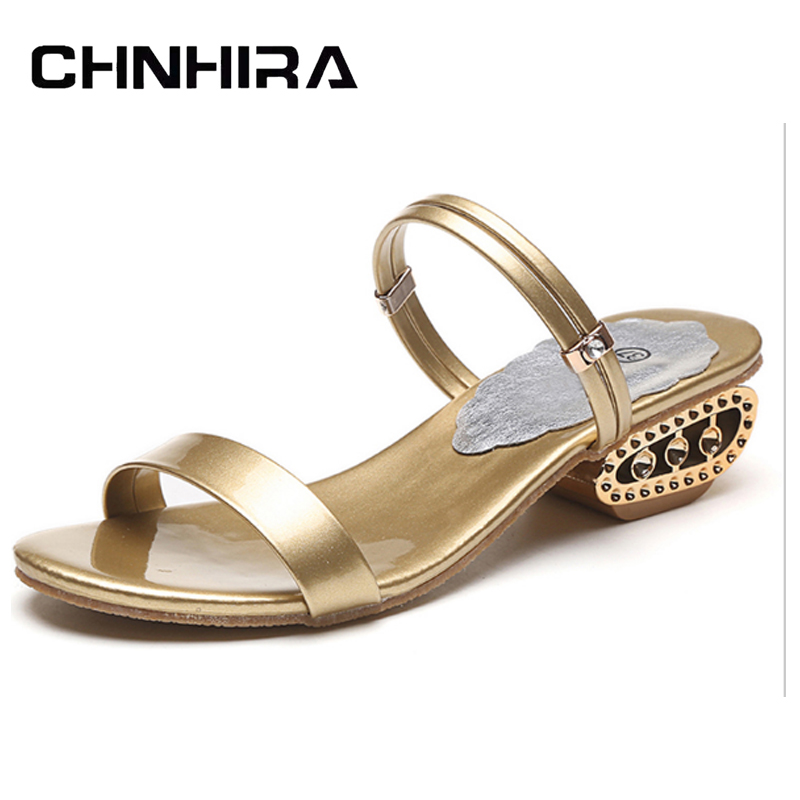 CHNHIRA Gold Silver Gladiator Sandals 2017 Summer Beach Flip Flops Platform Flat Shoes Woman Slip On Wedges Size 35-41 #CH400 phyanic 2017 gladiator sandals gold silver shoes woman summer platform wedges glitters creepers casual women shoes phy3323