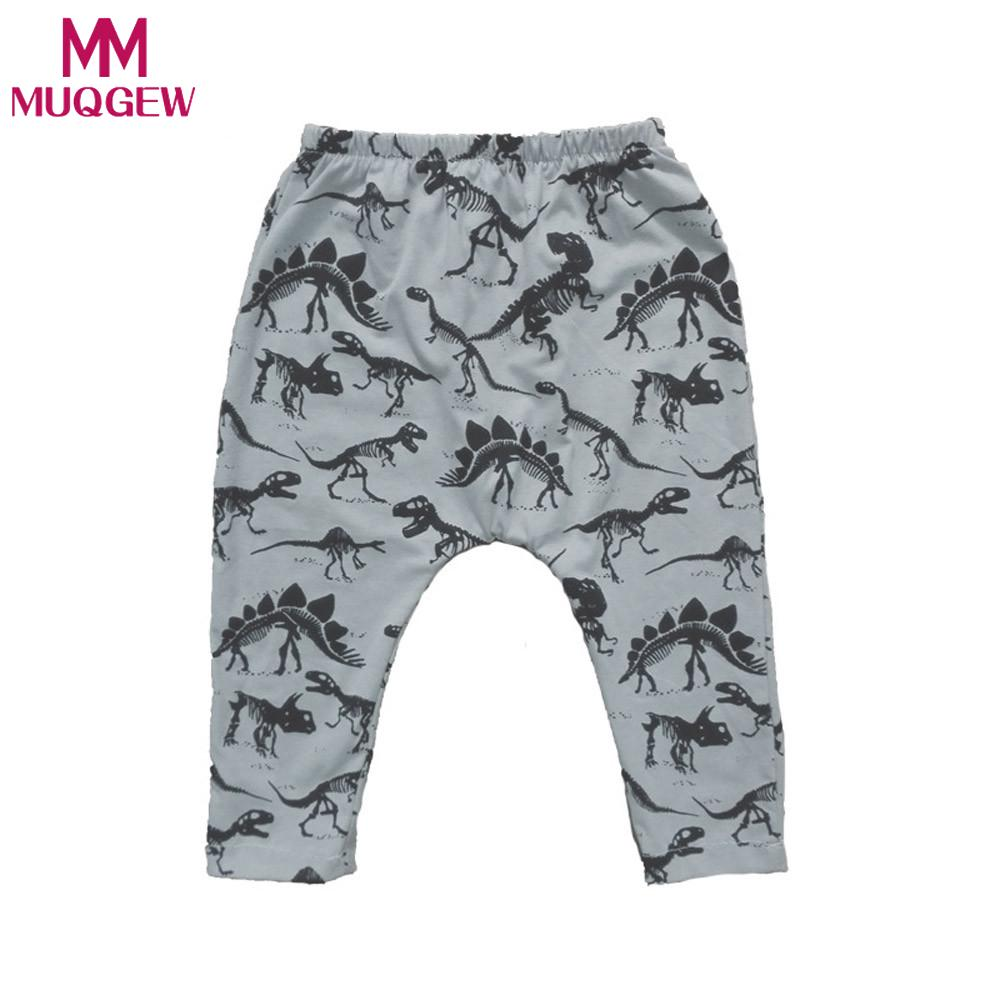 MUQGEW 2018 Горячая Детские Модные Штаны для малышей штаны для девочек с динозавром Одежда для мальчиков младенцев штаны для мальчиков одежда дл...