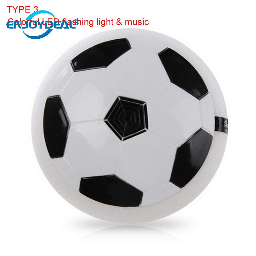 Colorful LED Flashing Light Air Power Soccer Disc LED Light Music Hover Gliding Ball Sports Football Gift Home Novelty Lighti
