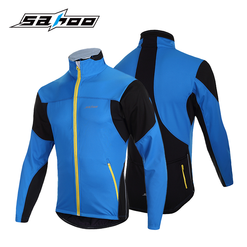 ФОТО SAHOO Winter Cycling Jersey Men Waterproof Breathable MTB Bicycle Bike Jersey Windproof Cycling Clothing Ropa Ciclismo