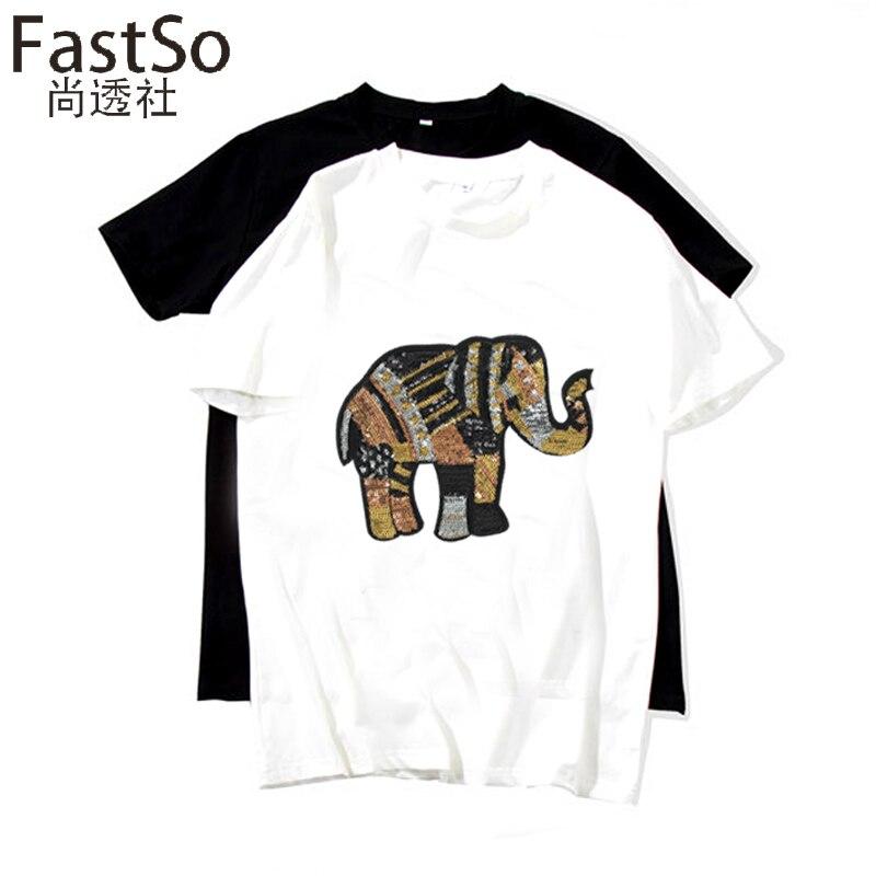 FastSo India lentejuelas elefante de oro coser en remiendos grandes ...