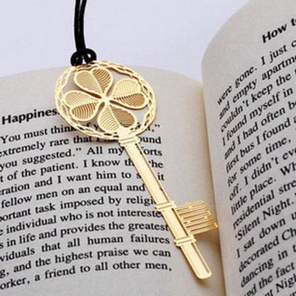 Einzigartige Glück Anhänger Edelstahl Schreibwaren Lesezeichen Buch Mark Geschenke Neue