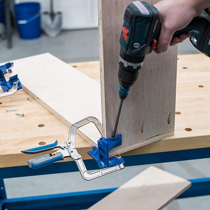 For <font><b>Kreg</b></font> Jigs <font><b>KHCCC</b></font> <font><b>90</b></font>° <font><b>Corner</b></font> Miter <font><b>Clamp</b></font> Jigs T Joints Pro Multifunctional Miter Jigs Woodworking Tool <font><b>90</b></font>° <font><b>Corner</b></font> <font><b>Clamp</b></font> image