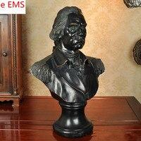 60 см гипса Джордж Вашингтон бюст статуя Континентальный армии смолы ремесленное домашний украшения Книги по искусству Материал L2335