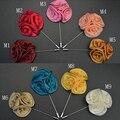 Men's Lapel Rose Daisy Flower Handmade Boutonniere Stick Brooch Pin Accessory