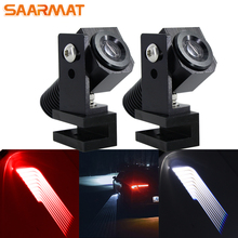 2Pcs Led car Atmosphere Lamp Angel Wings Car Welcome Light Shadow Projector LED Door Warning