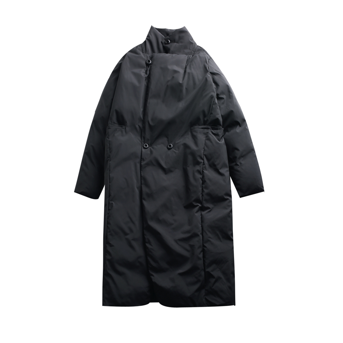 Grande eam De Manches Black Nouveau Couleur Taille Coton Longues Marée Printemps Manteau Évent Femmes 2019 Jd16 Montant Noir Col À Solide rembourré Mode 6YrxU6Bnqw