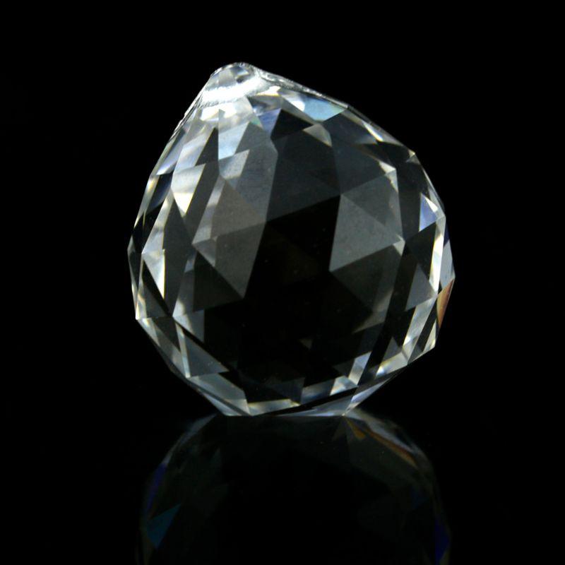 Lâmpada de cristal clara bola prisma pendurado suncatcher casamento decoração 20mm
