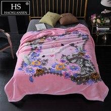 3,50 Кг супер мягкий розовый облачно одеяло Двуслойное пушистый взвешенный теплое зимнее одеяло покрывало для взрослых покрывало Королевское Размеры