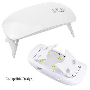 Image 5 - LKE 12W נייל מייבש LED UV מנורת מיקרו USB ג ל לכה אשפרה מכונת לשימוש ביתי נייל אמנות כלים מנורות עבור נייל