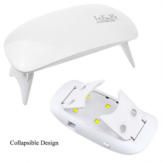 LKE 12W Nail Dryer LED UV Lamp Micro USB Gel Varnish Curing Machine For Home Use Nail Art Tools Nail For Lamps 5