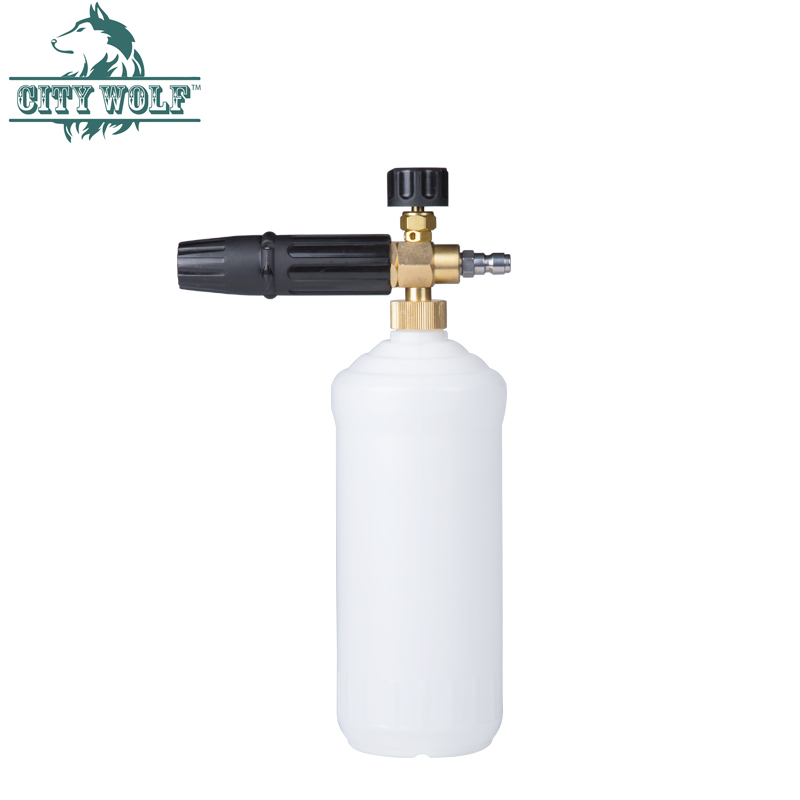 City Wolf car washer G1/4 quick release foam cannon brass snow foam lance deck foam soap bottle for high pressure washers