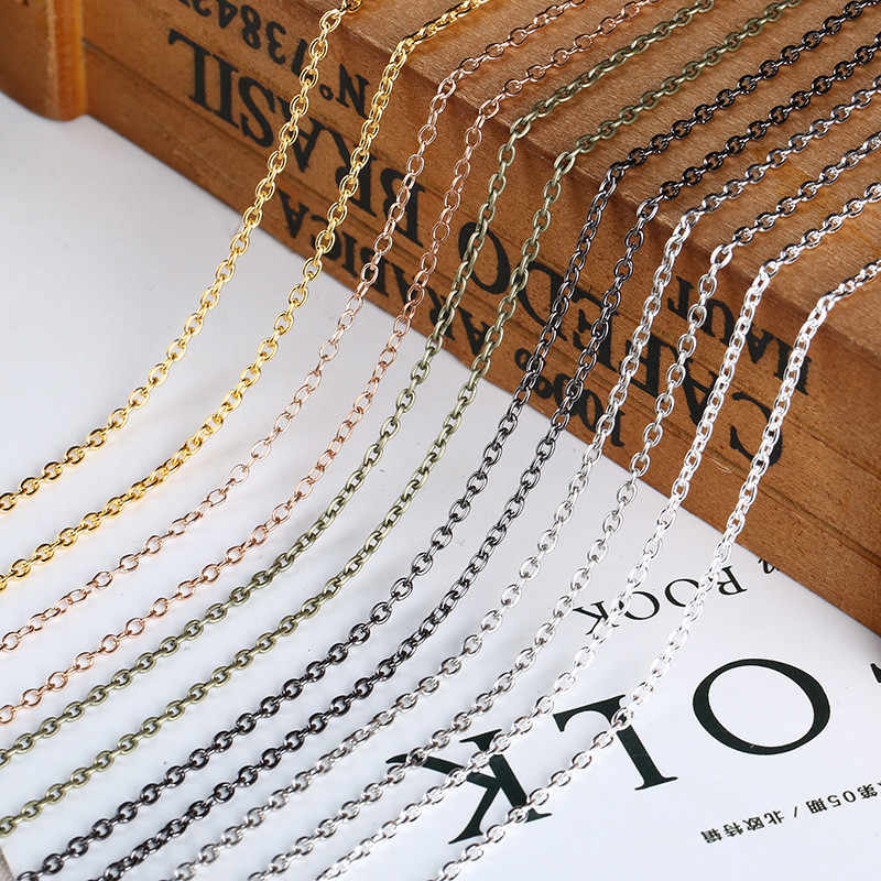 10meters/lot Width 2mm 2.5mm Metal Rolo Link Chains Bulk Gold Silver Color Necklace Bracelet Chain Findings For Jewelry Making