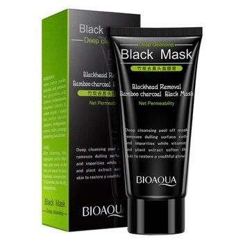 High Quality Black Head Remove Shrink Pores Natural Bamboo Charcoal Mask Blackhead Purifying Peel Off Black Face Mask  Комедон
