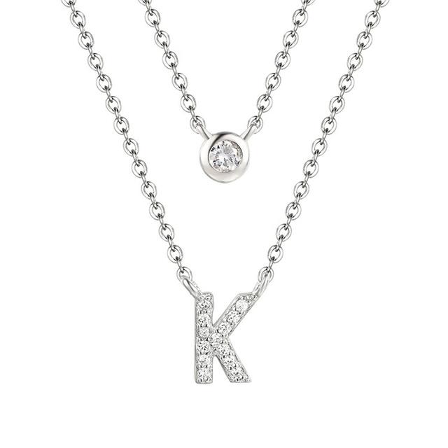 Trendy custom crystal pendant choker letter K necklace Women drop shipping  gift