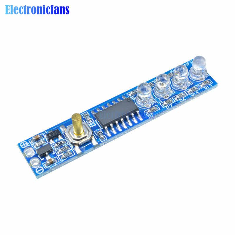 1S/2S/3S/4S Lithium Battery Capacity Indicator LED Display Board Power Level Indicator For 1/2/3/4pcs 18650 Lithium Battery DIY