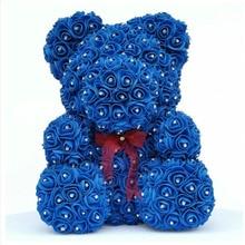 2020 Viên Kim Cương tăng gấu với trái tim nhân tạo hoa hồng bọt hoa hồng hoa Kim Cương gấu chịu rose Valentine quà tặng Ngày của Mẹ ngày