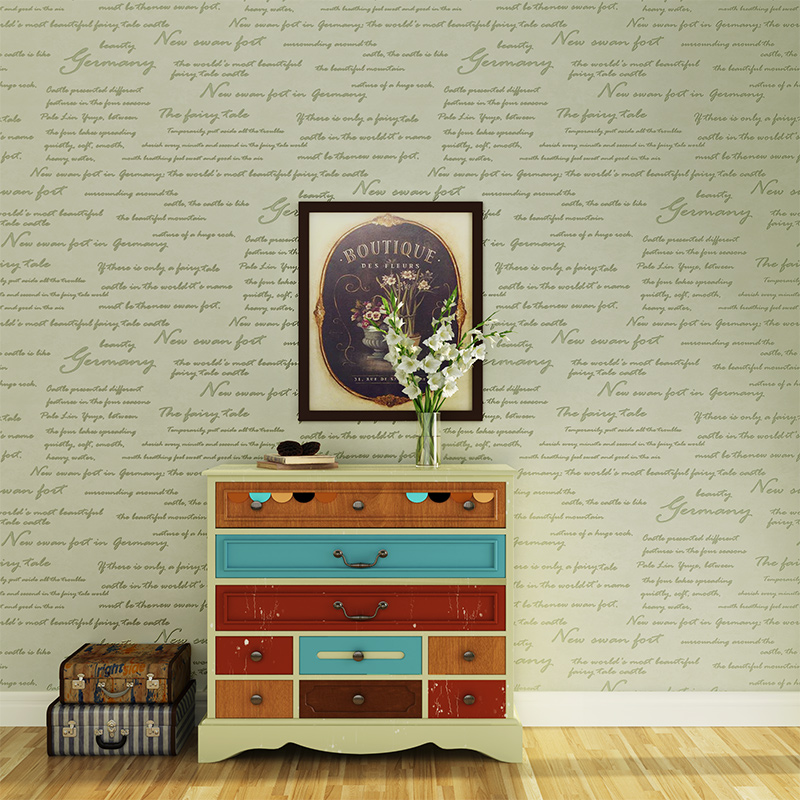 Simple Modern Vintage American Letters Wallpaper For Walls Study Bedroom Living Room Sofa TV Background Home Wall Paper Rolls