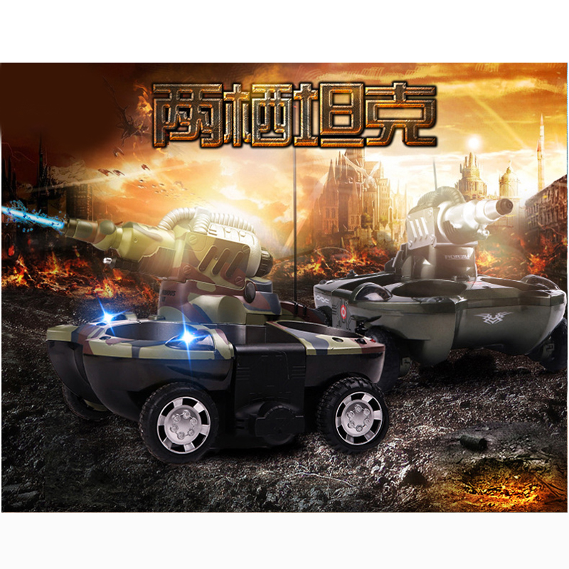RC Tank Amphibious Radio Control Rc Kit Land Water Robotic Remote Control Tank Toy For Boys Model Rc Military Plastic Battle Toy - 6