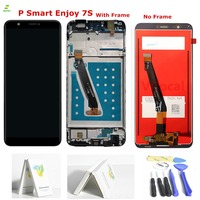 For Huawei P Smart LCD Display Touch Screen Digitizer Assembly For Huawei P Smart Enjoy 7S LCD With Frame FIG LX1 L21 L22 Black