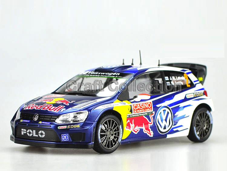 * 1:18 VW Volkswagen POLO R WRC 2 Race Car J. M. Latvala & M. Anttila Alloy Model Diecast Modell Auto Scale Models