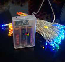 Battery Operated Fraiy String Lights 4M 40LED 4.5V for Festival Camping Tent Wedding Decoration 9 Color FreeShipping